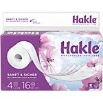 Papier toilette Hakle Sanft & Sicher 4 épaisseurs 16 Rouleaux de 130 Feuilles