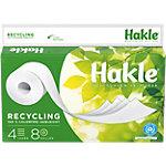 Papier toilette Hakle Recycling 4 épaisseurs 8 Rouleaux de 130 Feuilles
