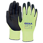 Gants Oxxa X Grip Lite Nylon, latex Taille L Jaune 2 Unités