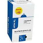 Stylo à bille Pilot Super Grip G 0.3 mm Noir 40 Unités