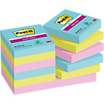 Notes Post it Super Sticky  47,6 x 47,6 mm Couleurs Miami 12 Blocs de 90 Feuilles