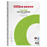 Cahier à spirale Office Depot Blanc A4+ Couverture en papier Quadrillé Recyclé micro perforé 100 feuilles