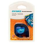 Étiquettes Dymo LetraTag™ Noir sur Bleu 12 mm x 4 m