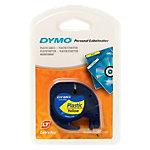 Étiquettes DYMO LetraTag™ Noir sur Jaune 12 mm x 4 m