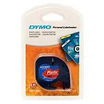 Étiquettes Dymo LetraTag Noir sur Rouge 12 mm x 4 m