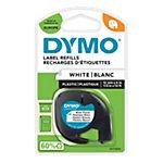 Étiquettes Dymo LetraTag™ Noir sur Blanc 12 mm x 4 m
