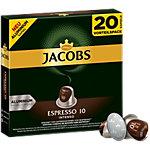Capsules en aluminium Jacobs Espresso 10 Intenso 20 Unités de 5.2 g