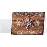 Carte de Noël faite à la main Sigel Étoiles de pays 250 g