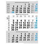 Calendrier mural Simplex 3 mois par page 2022 Bleu