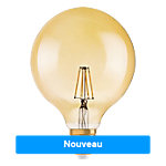Ampoule LED GLS Osram 1906 GLOBE GOLD Chrystal claire E27 7 W Blanc chaud