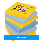 Notes Post it Super Sticky 76 x 76 mm Couleurs New York 6 Blocs de 90 Feuilles
