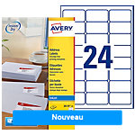 Etiquettes d'adresse AVERY Zweckform QuickDry™ Blanc 63,5 x 33,9 mm 25 Feuilles