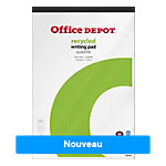 Bloc notes Office Depot Recycled Blanc Quadrillé micro perforé A4+ 70 g