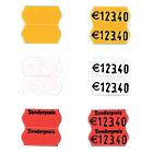 Étiquettes sur rouleau 1 ligne SATO 2.6 x 1.2 cm Rouge fluo 1500 Unités