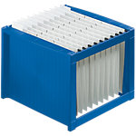 Boîte à dossiers suspendus helit The rack A4 Bleu 36 x 38 x 26 cm