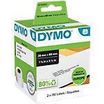 Rouleau d'étiquettes d'adresses DYMO LabelWriter 28 x 89 mm Blanc 2 Rouleaux de 130 Étiquettes
