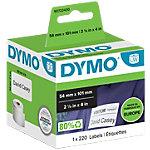 Rouleau d'étiquettes d'adresses DYMO LabelWriter 54 x 101 mm Blanc 220 Étiquettes