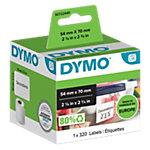 Rouleau d'étiquettes polyvalentes DYMO LW 99015 54 mm Noir sur Blanc 320 Unités
