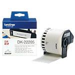 Ruban Brother DK 22205 62 mm x 30.48 m Blanc 1 Rouleaux de  Étiquettes