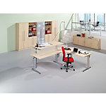 Table d'extension Hammerbacher Matrix Effect hêtre 600 x 800 x 25 mm