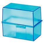 Boîte à dossiers HAN 977 64 Bleu transparent 300 Cartes 12.1 x 7.4 x 10.1 cm