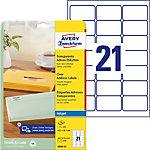 Étiquettes universelles AVERY Zweckform J8560 25 Transparent A4 63,5 x 38,1 mm 21 Feuilles de 25 Étiquettes