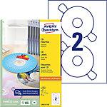 Étiquettes pour CD AVERY Zweckform L6043 A4 Transparent 100 Feuilles de 2 Étiquettes