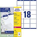 Étiquettes d'adresse AVERY Zweckform QuickPEEL™ Blanc 63,5 x 46,6 mm 100 Feuilles