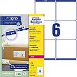 Étiquettes d'adresse AVERY Zweckform L7166 100 A4 Blanc 99.1 x 93.1 mm 100 Feuilles de 6 Étiquettes