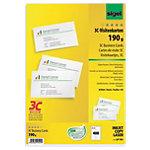 Cartes de visite 3C Sigel 3C LP 791 Blanc Lisse 190 g