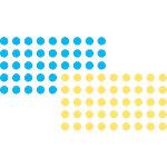 Pastilles Franken Bleu, jaune 1040 Unités 1040 Unités