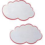 Nuages blancs avec contours rouges Franken Blanc 14 x 23 cm 20 Unités