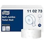 Papier toilette Tork T1 Premium Jumbo 2 épaisseurs 6 Rouleaux de 1800 Feuilles