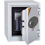 Coffre fort Phoenix Datacare 2001 serrure à clé gris clair 35 x 43.2 x 42 cm