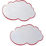 Nuages blancs avec contours rouges Franken Blanc 42 x 25 cm 20 Unités