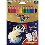 Crayons de couleur BIC Kid couleur Assortiment   18 Unités