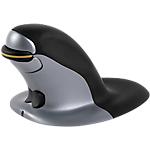 Souris ergonomique ambidextre Sans fil Fellowes Penguin®   Grand Noir, Argent
