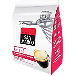 Dosettes de café Non décafeiné SAN MARCO Espresso corsé   36 Unités