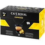 Capsules de café Non décafeiné CAFÉ ROYAL Espresso   33 Unités