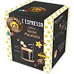Dosettes de café Non décafeiné COLUMBUS Vanille Macadamia   16 Unités