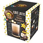 Dosettes de café Non décafeiné COLUMBUS Latte Vanille Macadamia   16 Unités