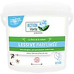 Tablette lessive ACTION Verte Fleur de coton   160 Unités