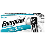 Piles alcalines Energizer Max Plus 9V