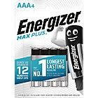 Piles alcalines Energizer Max Plus AAA   4 Unités