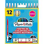 Feutres de coloriage Paper Mate Assortiment   12 Unités