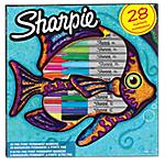 Marqueurs Sharpie Fish Assortiment   28 Unités