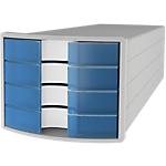 Module à tiroirs HAN IMPULS 23,5 (H) x 28 (l) x 36,7 (P) cm Gris clair, Bleu translucide