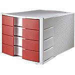 Module à tiroirs HAN IMPULS 23,5 (H) x 28 (l) x 36,7 (P) cm Gris clair, Rouge
