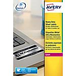 Étiquettes ultra résistantes métalliques Avery L6013 20 Argenté 297 x 210 mm 20 Feuilles de 1 Étiquette