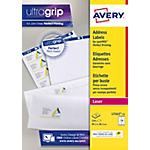 Étiquettes adresse Avery L7163 15 99,1 x 38,1 mm Blanc 99,1 x 38,1 mm 15 Feuilles de 14 Étiquettes